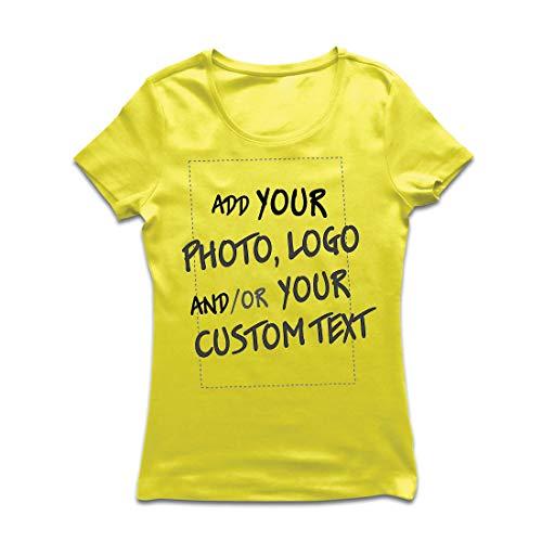 lepni.me Vrouwen T-Shirt Aangepaste Gepersonaliseerde Gift Toevoegen Bedrijf Logo Eigen Ontwerp of Foto