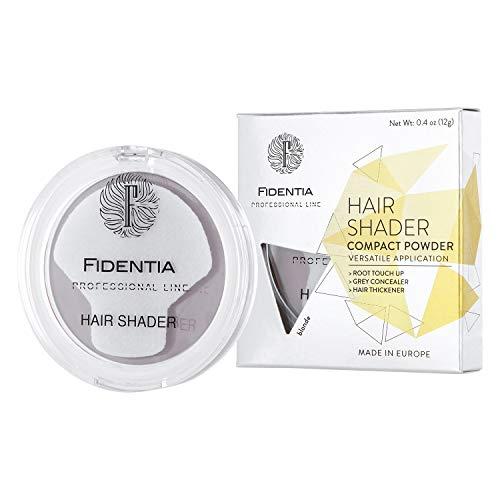 Fidentia Hair Shader 12g | Made in EU | Haar Concealer Puder zur Haarverdichtung, Ansatz & Geheimratsecken kaschieren - Blond