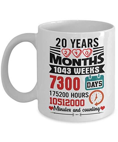 20 años de aniversario de bodas de la taza de café para ella, mujeres - Funny 20th Wedding MarriageRegalo de aniversario para la esposa del esposo 20 años celebrando el matrimonio Regalo del esposo Ta