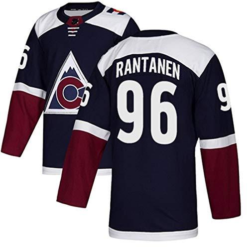 NHL Hockey Jersey Avalanche Mannschaft Männer Sweatshirts # 29# 96# 92 gestickte Ice Jersey Breath Langarm-T-Shirt,#96 Black,L/52