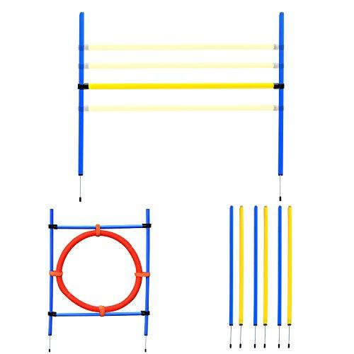 Pawhut Agility Sport pour Chiens équipement Complet : 6...