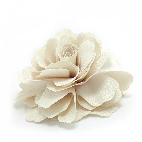 Meilliwish Kamelien Blume Haarklammer Brosche (Sahne) (A74)