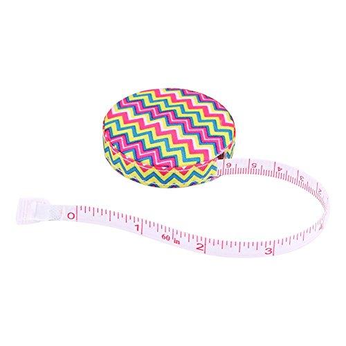 150 cm   60 in Regla de medición del cuerpo, Cinta métrica retráctil de costura cinta métrica suave cinta de medida de tela de costura a medida(1 #)