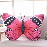 VOSAREA - Cojín de peluche con forma de mariposa, para el hogar, la oficina o el hogar