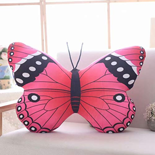 VOSAREA Schmetterling Wurfskissen Tier Plüschtier Stofftier Rest Kissen für Wohnheim Büro nach Hause