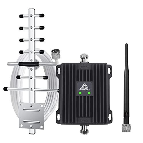 ANYCALL Amplificatore Segnale Cellulare Ripetitore LTE gsm 3G 900/1800MHz Band 8/3 Amplificatore per Telefonica Cellulari con Antenne per Uso Domestico/Ufficio