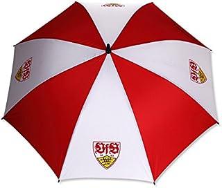 VfB Stuttgart Stockschirm / Regenschirm rot/weiss mit Wappen und 120cm Durchmesser