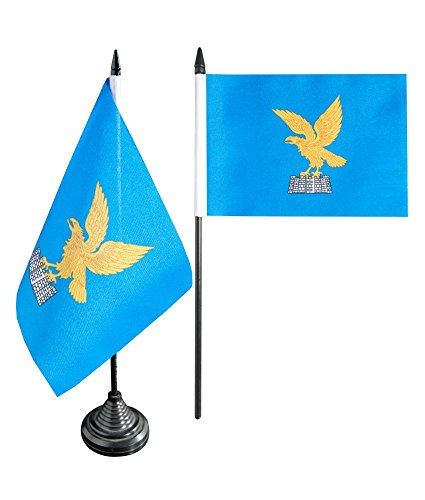 Flaggenfritze Tischflagge/Tischfahne Italien Friaul Julisch Venetien + gratis Aufkleber