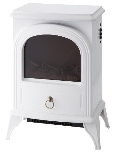 暖炉型ファンヒーターNostalgie ホワイト CH-1331WH
