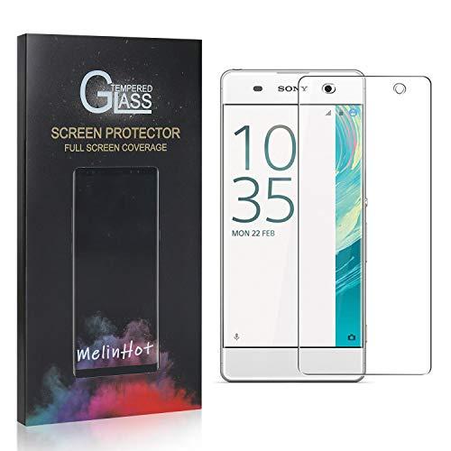 MelinHot Displayschutzfolie für Sony Xperia XA, 9H Anti Kratzen Panzerglasfolie, 99% Transparente Schutzfilm aus Gehärtetem Glas für Sony Xperia XA, 4 Stück