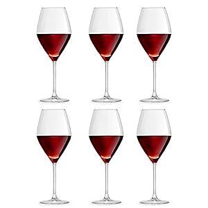 Libbey Copa de Vino Iduna 47 cl/470 ml - Set de 6 Unidades – diseño Elegante Apta para el lavavajillas