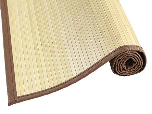 MI CASA Alfombra de Bambu 180 x 240, Blanco, Multicolor, 180 x 240 cm