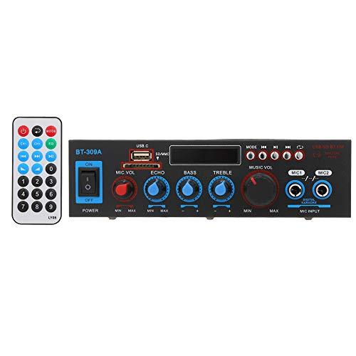 Docooler - Amplificador de potencia audio Up to 800 W 12 V/220 V receptor audio digital Bluetooth ranura USB SD AMP reproductor MP3 radio FM...