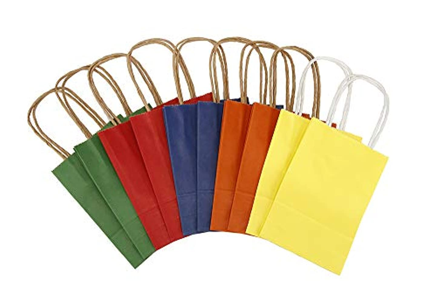 Darice Colored Value Assorted, 4.72 x 6.70 inches, 10 Pack Gift Bag, 4.72 X 6.70 X 1.97, 6 Pieces