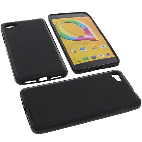 foto-kontor Funda para Alcatel A5 LED Protectora de Goma TPU para móvil Negra