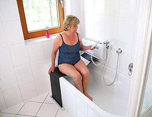 Melchers Techimport BWTL-024 / Einstiegshilfe Badewanne/Badewannentuchlifter für Senioren/Wannenlift/Lift, weiß, gehäuse: ca. 56 x 30 x 11 cm (l x b x t)