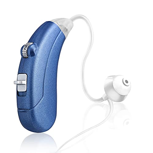 Hearing Amplifier for Seniors Adults Noise-Cancelling - Miracle Ear Digital Personal Sound Amplifier Devices with Volume Control As Seen On TV Hearing Aid Cleaning Tools Included (Fit Either Ear)