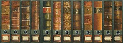 """File Art - Ordnerrücken Design Etiketten - Motiv \""""Folio\"""" für 12 breite Aktenordner als Kollektion FA-AJ311+312+313"""