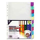 Premier Stationery - Fundas Premier Depot Flash A4 perforado con divisor (paquete de 10)