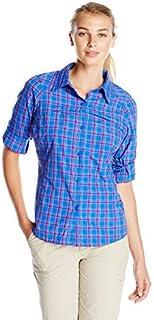 Columbia Sportswear Womens Silver Ridge Plaid Long Sleeve Shirt, Blue Macaw, X-Small