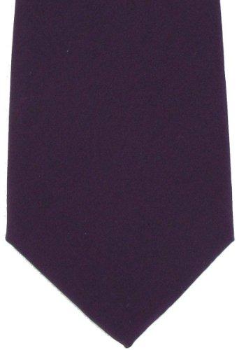Michelsons of London Cravate en soie pourpre simple de