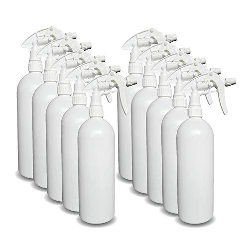 Belfont 10 Stück Sprühflaschen leer 1l I Sprühflasche für Desinfektionsmittel oder als Blumensprüher I Spray Bottle I Sprayflasche leer (1 Liter)