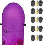 Soporte de pared para tabla de snowboard, almacenamiento de tabla de snowboard, estante flotante para colgar en la pared, diseño invisible, capacidad para 5 tablas de snowboard con o sin fijaciones