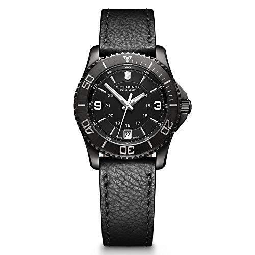 Victorinox Herren Analog Quarz Uhr mit Leder Armband 241788