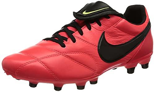 Nike The Premier II FG, Scarpe da Calcio, BRT Crimson/Black-lt Lemon Twist, 40 EU