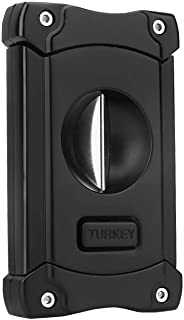 Turkey Guillotine V-Cut Cigar Cutter with 7mm Punch
