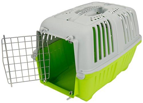 Tommi 01116 Pratiko - Caja de Transporte con Puertas de Metal, para Gatos y Perros, 1 Unidad, Color Surtido, 48 x 31.5 x 33 cm