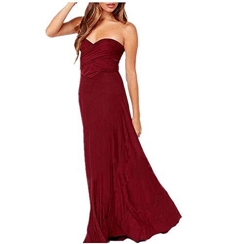 Sexy Frauen Boho Maxi Club rotes Kleid Bandage langes Kleid Party Brautjungfern unendlichkeit Robe Longue Femme