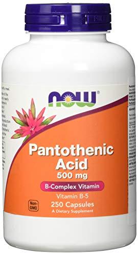 Pantothenic Acid, 500 mg, 250 Capsules - Now Foods - Qty 1