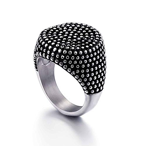 AMY-XCQ Ring, Stainless Steel And Titanium Steel Jewelry Men's Birthday Holiday Party Accessories Retro,12