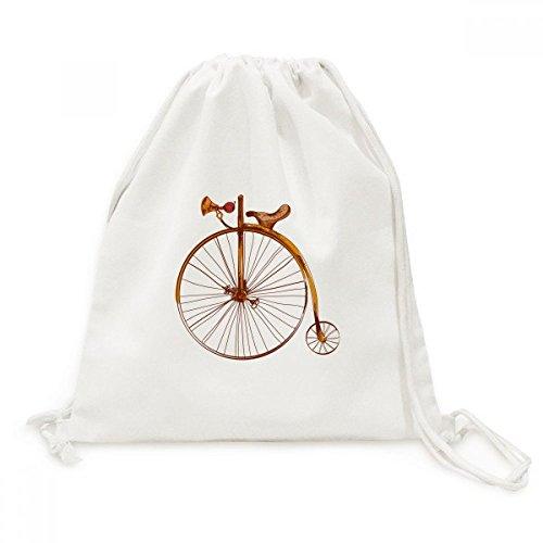 DIYthinker Altmodisches Fahrrad High Wheeler Britain Canvas-Rucksack Reisen Shopping Bags