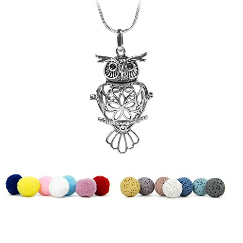KroO Aromatherapy Essential Oil Diffuser Necklace, 24