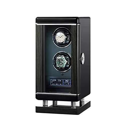 Zatnec Caja Giratorias para Relojes Automaticos,Luz Interior, Motor Silencioso,Estuche Bobinadora para Relojes Organizadora Y Exhibición