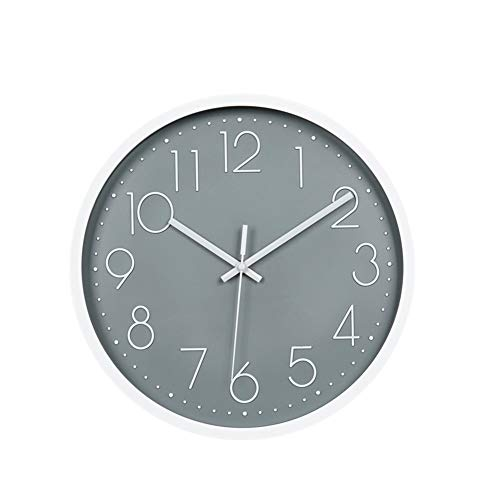 jingxiaopu Reloj De Pared Relojes De Pared Tridimensional con NúMeros AráBigos Reloj De Pared Silencioso De PláStico para Sala De Estar D,One Size