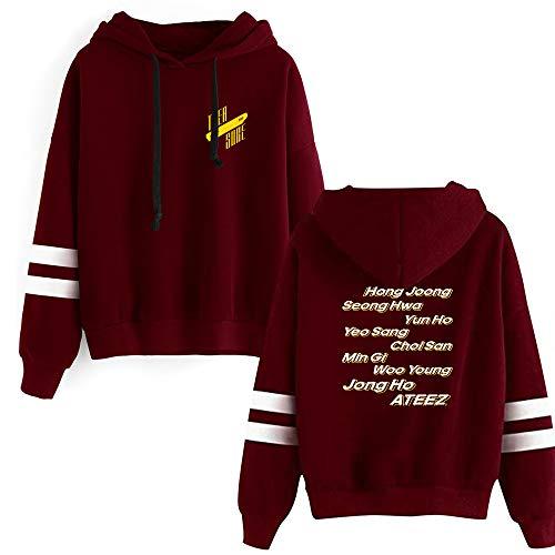 KPOP ATEEZ Kapuzenpullover Loose Sweater Treasure Bedrucken Hoodies Sweatshirts Hip Hop Pullover Freizeit Tops Für Männer und Frauen HONGJOONG SEONGHWA Yunho YEOSANG SAN MINGI WOOYOUNG JONGHO