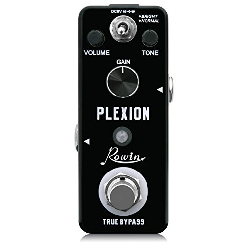 Rowin Plexion Distortion Pedal for Guitar & Bass with Bright