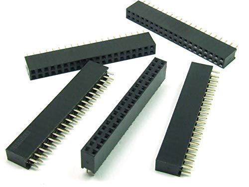 POPESQ® - 5 STK. x Buchsenleiste 2.54mm 2x20 polig Gerade #A1966
