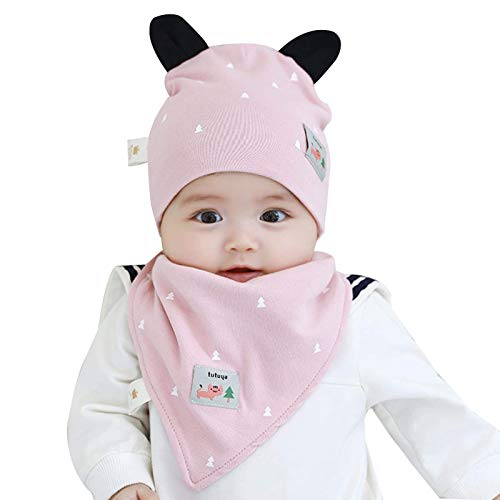 Sombrero gorra algodón recién nacido bebé niñas sombrero primavera otoño recién nacido niños sombrero baberos lindo alintido bebé gorro de punto sombrero de punto (color: azul, tamaño: l 3-18 meses) k