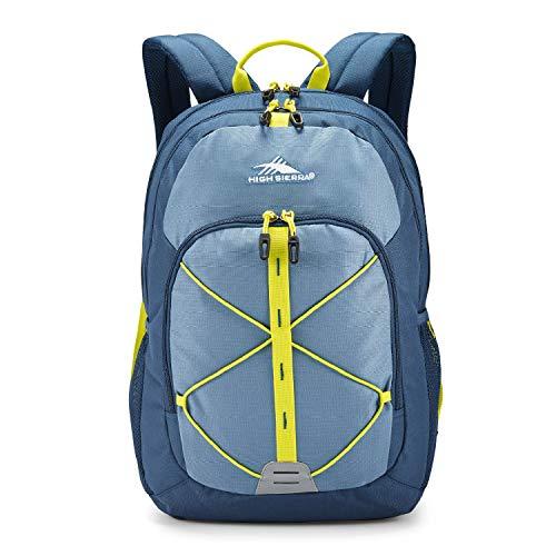 High Sierra Daio Backpack, Graphite Blue/Rustic Blue/Glow