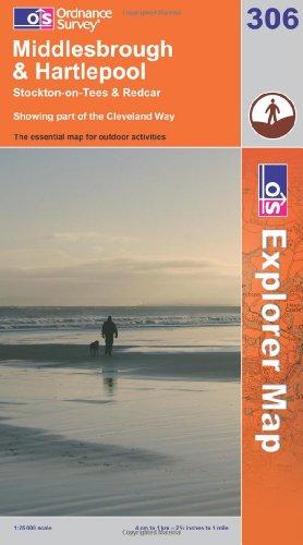OS Explorer map 306 : Middlesbrough & Hartlepool