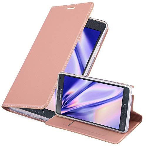 Cadorabo Funda Libro para Samsung Galaxy Note 4 en Classy Oro Rosa – Cubierta...