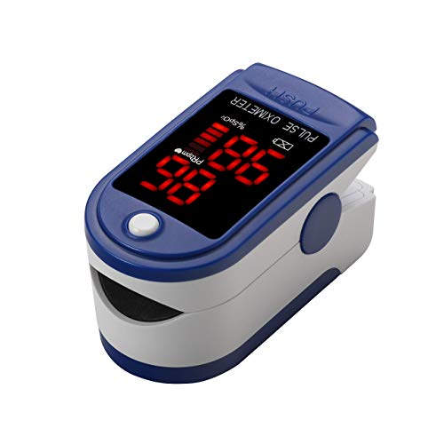 JYTOP Finger Tip Pulse Oximeter - Blood Oxygen Saturation (SpO2) and Pulse Rate Monitor - Portable LED Display