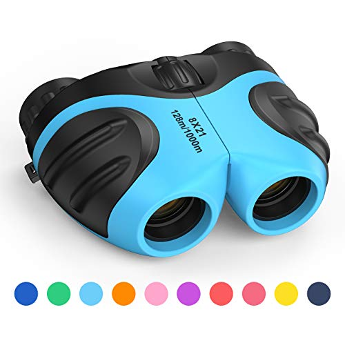 LET'S GO! Binoculars for Kids Boys, DIMY Outdoor Toys for 3-12 Year Old Boys New Best Gifts for 3-12 Year Old Boys Christmas Xmas Stocking Stuffers Fillers for Boys Blue DL08