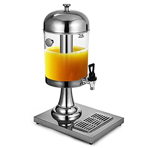 HODOY Dispenser per Bevande Fredde da 8 Litri / 2,1 Gal Distributore di succhi per Bevande fresche da 3,7 kg Acciaio Inossidabile per Uso Commerciale Servizio Colazione a Buffet in Hotel 8L (8L)