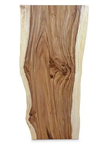 Kinaree Massivholz Tischplatte Akazie 160x70 cm - Echtholz Esstischplatte mit Baumkante