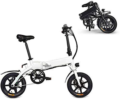 Bicicletas Eléctricas, Bicicletas for adultos plegable eléctricos Comfort Bicicletas Bicicletas híbrido reclinada / Road de 14 pulgadas, batería de litio 7.8Ah, aleación de aluminio, frenos de disco f